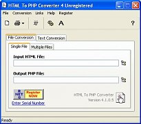 HTML To PHP Converter