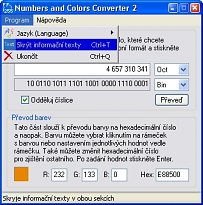 Numbers and Colors Converter