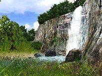 3D Waterfall Screensaver