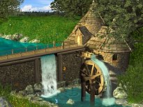 Watermill by Waterfall Screen Saver