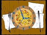 Pizza Clock Screensaver