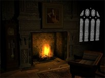 Old Fireplace Animated Wallpaper
