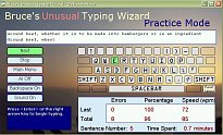 Bruce's Unusual Typing Wizard